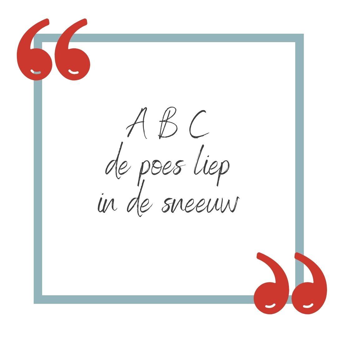 ABC de poes liep in de sneeuw